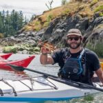 sea kayaking and found a crab near Quadra Island BC