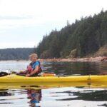 sea kayaking near Quadra Island BC