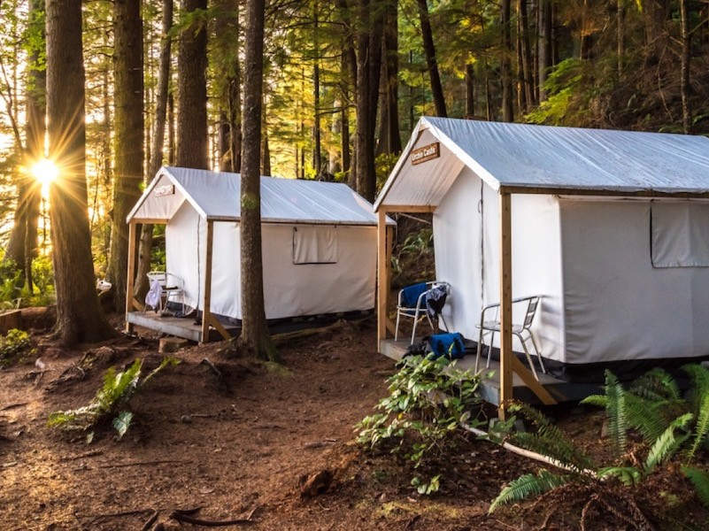 orca camp safari tents in johnstone strait british columbia
