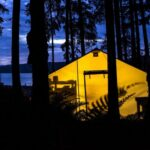 camping in the wilderness johnstone strait british columbia