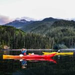 kayaking in johnstone strait, british columbia canada